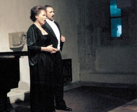 Prague Opera: Vladimir Grishko, Rodolfo with the New York Metropolitan Opera, and Eva Děpoltová, soprano, Stone Bell Opera Gala 1998. Prague Opera tickets online!